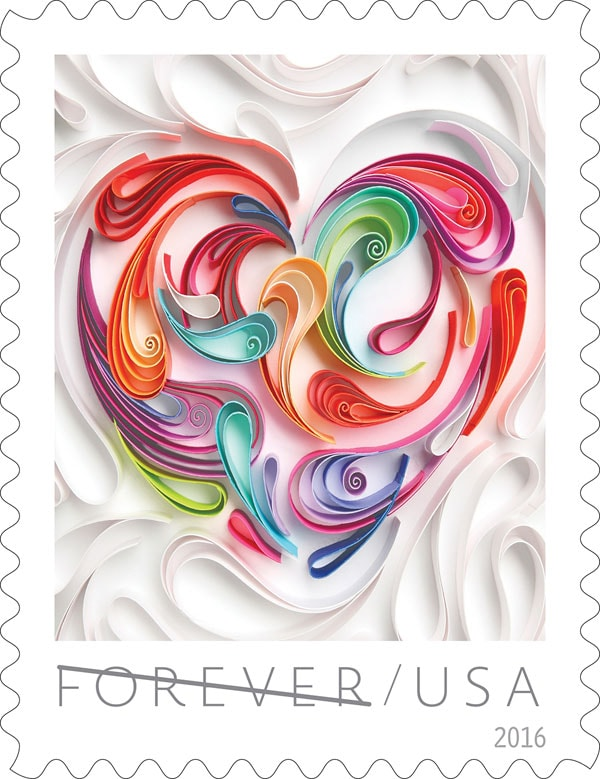 Stunning 2016 Love Stamp: Stamps for Weddings
